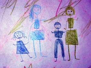 child drawing of family